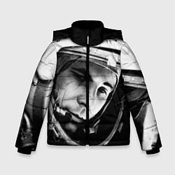 Куртка зимняя для мальчика Гагарин космонавт цвета 3D-черный — фото 1