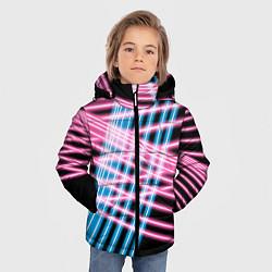 Детская зимняя куртка для мальчика с принтом Неон, цвет: 3D-черный, артикул: 10126681106063 — фото 2
