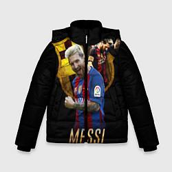 Куртка зимняя для мальчика Messi Star цвета 3D-черный — фото 1