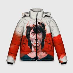 Куртка зимняя для мальчика Молодой Цой цвета 3D-черный — фото 1