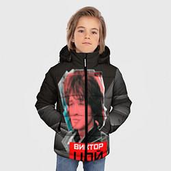 Куртка зимняя для мальчика Виктор Цой цвета 3D-черный — фото 2