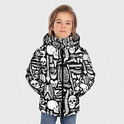 Куртка зимняя для мальчика Кости цвета 3D-черный — фото 2