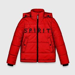 Куртка зимняя для мальчика DM: Red Spirit цвета 3D-черный — фото 1