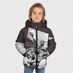 Куртка зимняя для мальчика Floyd Mayweather цвета 3D-черный — фото 2