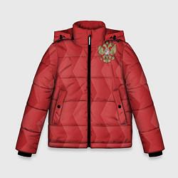 Куртка зимняя для мальчика Сборная России цвета 3D-черный — фото 1
