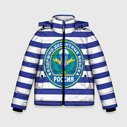 Детская зимняя куртка для мальчика с принтом ВДВ Россия, цвет: 3D-черный, артикул: 10132434506063 — фото 1