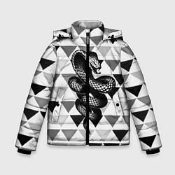 Куртка зимняя для мальчика Snake Geometric - фото 1