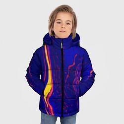 Куртка зимняя для мальчика Ультрафиолетовые разводы цвета 3D-черный — фото 2