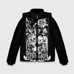 Детская зимняя куртка для мальчика с принтом Dethklok: Metalocalypse, цвет: 3D-черный, артикул: 10134388906063 — фото 1