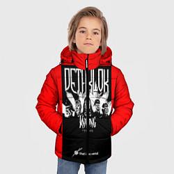 Куртка зимняя для мальчика Dethklok: Knitting factory цвета 3D-черный — фото 2