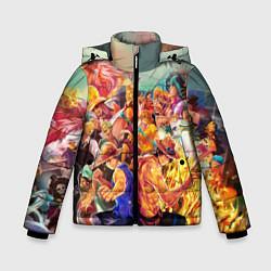 Куртка зимняя для мальчика Ван-Пис цвета 3D-черный — фото 1