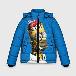 Куртка зимняя для мальчика Duff Brain цвета 3D-черный — фото 1