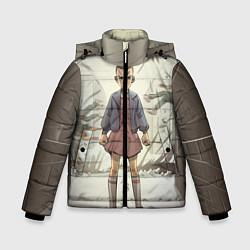 Детская зимняя куртка для мальчика с принтом Girl-boy, цвет: 3D-черный, артикул: 10135945706063 — фото 1