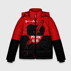 Куртка зимняя для мальчика Poison heart цвета 3D-черный — фото 1