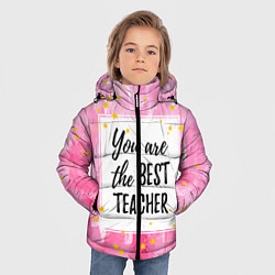Куртка зимняя для мальчика Лучший учитель цвета 3D-черный — фото 2