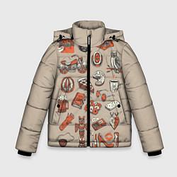 Куртка зимняя для мальчика Twin Peaks Pack цвета 3D-черный — фото 1