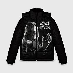 Детская зимняя куртка для мальчика с принтом Оззи Осборн, цвет: 3D-черный, артикул: 10138075906063 — фото 1