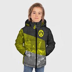 Куртка зимняя для мальчика BVB FC: Dark polygons цвета 3D-черный — фото 2