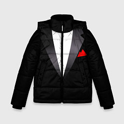 Куртка зимняя для мальчика Смокинг мистера цвета 3D-черный — фото 1