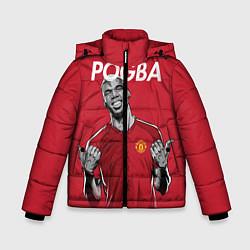 Куртка зимняя для мальчика FC MU: Pogba цвета 3D-черный — фото 1
