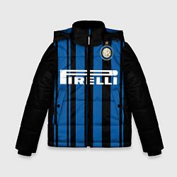 Детская зимняя куртка для мальчика с принтом Inter FC: Home 17/18, цвет: 3D-черный, артикул: 10139225106063 — фото 1