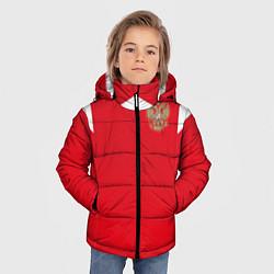 Детская зимняя куртка для мальчика с принтом Сборная России: ЧМ 2018, цвет: 3D-черный, артикул: 10139457306063 — фото 2