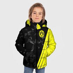 Куртка зимняя для мальчика FC Borussia Dortmund: Abstract цвета 3D-черный — фото 2