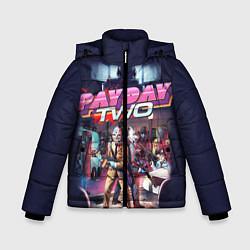 Куртка зимняя для мальчика Payday Two цвета 3D-черный — фото 1