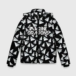 Детская зимняя куртка для мальчика с принтом Imagine Dragons: Paper airplanes, цвет: 3D-черный, артикул: 10140511106063 — фото 1