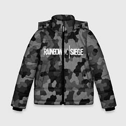Куртка зимняя для мальчика Rainbow Six: Grey Mozaic цвета 3D-черный — фото 1