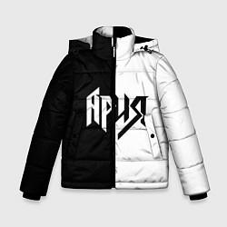 Детская зимняя куртка для мальчика с принтом Ария Ч/Б, цвет: 3D-черный, артикул: 10142844306063 — фото 1