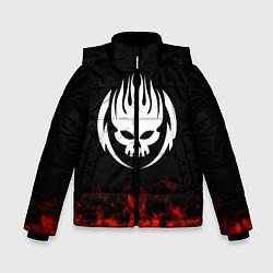 Куртка зимняя для мальчика The Offspring: Red Flame цвета 3D-черный — фото 1