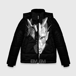 Куртка зимняя для мальчика Eminem B&G цвета 3D-черный — фото 1