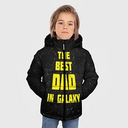 Куртка зимняя для мальчика The Best Dad in Galaxy цвета 3D-черный — фото 2