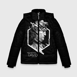 Детская зимняя куртка для мальчика с принтом Renaissance David, цвет: 3D-черный, артикул: 10145987906063 — фото 1