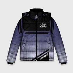 Куртка зимняя для мальчика SUBARU SPORT цвета 3D-черный — фото 1