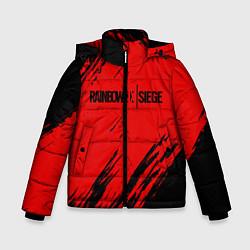 Куртка зимняя для мальчика R6S: Red Style цвета 3D-черный — фото 1