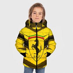 Детская зимняя куртка для мальчика с принтом Ferrari Power, цвет: 3D-черный, артикул: 10147044906063 — фото 2