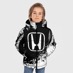 Куртка зимняя для мальчика Honda: Black Spray цвета 3D-черный — фото 2