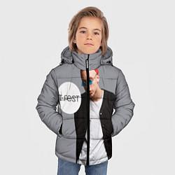 Детская зимняя куртка для мальчика с принтом T-Fest: Grey Style, цвет: 3D-черный, артикул: 10147368706063 — фото 2