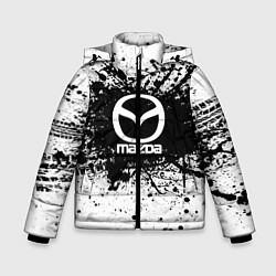 Детская зимняя куртка для мальчика с принтом Mazda: Black Spray, цвет: 3D-черный, артикул: 10147676306063 — фото 1