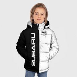 Куртка зимняя для мальчика Subaru B&W цвета 3D-черный — фото 2