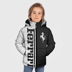 Детская зимняя куртка для мальчика с принтом Ferrari B&W, цвет: 3D-черный, артикул: 10148364706063 — фото 2