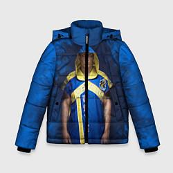 Куртка зимняя для мальчика Александр Усик цвета 3D-черный — фото 1