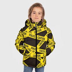 Детская зимняя куртка для мальчика с принтом Police Caution, цвет: 3D-черный, артикул: 10149339106063 — фото 2
