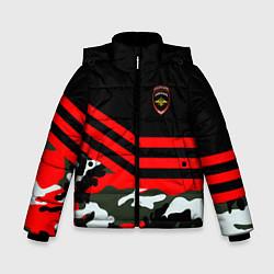 Куртка зимняя для мальчика Полиция: Камуфляж цвета 3D-черный — фото 1
