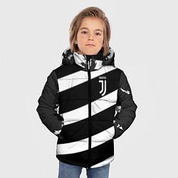 Куртка зимняя для мальчика Juve: B&W Lines цвета 3D-черный — фото 2