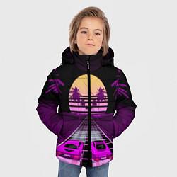 Куртка зимняя для мальчика Digital Race цвета 3D-черный — фото 2