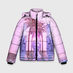 Куртка зимняя для мальчика Digital Miami цвета 3D-черный — фото 1
