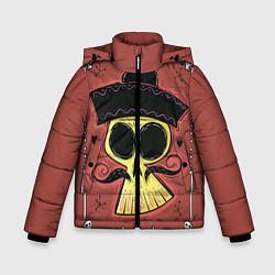 Детская зимняя куртка для мальчика с принтом Dia de los Muertos, цвет: 3D-черный, артикул: 10152402306063 — фото 1